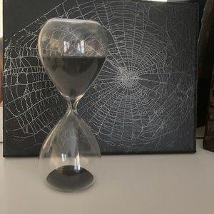 Hourglass Black Sand Decorative